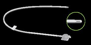 Punta proximal del catéter peritonea de los SDLP